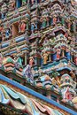 Details of the gopuram large pyramidal tower signature architecture entrance at sri mahamariamman indian temple kuala Royalty Free Stock Photography