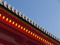 Details of Japanese roof. Royalty Free Stock Photos