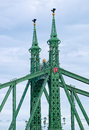 Details of Liberty Bridge in Budapest, Hungary