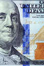 Details of new hundred dollar bill redesigned Stock Photos
