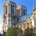 Details of notre dame de paris cathedral france Royalty Free Stock Images