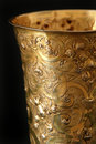 Details old chalice used liturgies Stock Photo