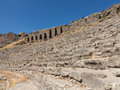 Details of the old ruins at pergamum amphitheater or amphitheatre ruined greek city aeolis now known as or pergamon in turkey Royalty Free Stock Photography