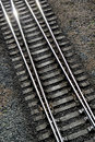 Details of railway tracks Stock Photo