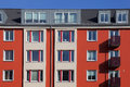 Details row townhouse kiel germany Royalty Free Stock Image