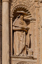 Details of San Gregorius sculpture on building in Spain Royalty Free Stock Photo