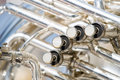 Details from a showband fanfare our drumband with instruments Royalty Free Stock Images