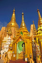 Details of the Shwedagon Paya, in Yangon, Myanmar (or Burma) Royalty Free Stock Images