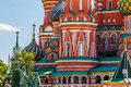 Details of St. Basil's cathedral of Moscow Royalty Free Stock Photo