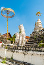 Details of stupa at wat saen fang temple in chiang mai thailand ancient construction public property Royalty Free Stock Images