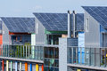Details of the sunship in freiburg green city solar is solar village vauban black forest germany it Royalty Free Stock Image