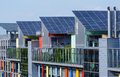Details of the sunship in freiburg green city solar is solar village vauban black forest germany it Royalty Free Stock Photo
