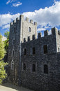 Details towers and medieval castles in Tuscany Royalty Free Stock Photo