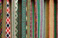 Details of a traditional colorful Lithuanian weave Royalty Free Stock Photo