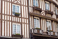 Details of typical half timbered house in Normandy Stock Images