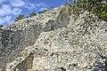 Details van oude die gebouwen door mayas worden gebouwd Royalty-vrije Stock Fotografie