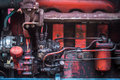 Details of a very old tractor, mechanical parts Royalty Free Stock Photo