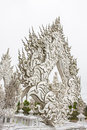 Details of wat rong khun the white temple thailand in chiang rai Royalty Free Stock Photography