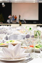 Details of a wedding banquet table Stock Image