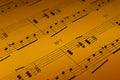 Detalle de la hoja de música Fotos de archivo libres de regalías