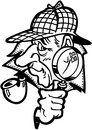Detective cartoon design vector clipart Foto de archivo