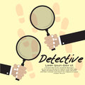 Detective vector illustration concept eps Royalty Free Stock Images