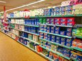 Detergent department, soaps and products Royalty Free Stock Photo