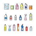 Detergents set Royalty Free Stock Photo