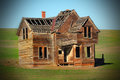 Deteriorating Frontier Home Royalty Free Stock Photo