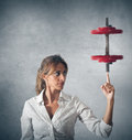 Determinated businesswoman Stock Photography