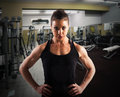 Determined coach woman with expression in a gym Stock Photography