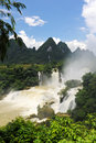The Detian waterfall in China Royalty Free Stock Photo