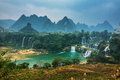 Detian waterfall in China Royalty Free Stock Photo