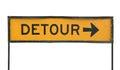 Detour road sign Stock Photos
