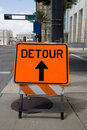 Detour Sign Royalty Free Stock Photos