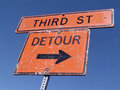 Detour - third street Stock Photo