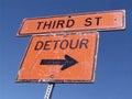Detour - third street Stock Photo