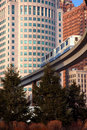 Detroit commuter monorail Royalty Free Stock Image
