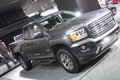 Detroit january the new gmc canyon truck at the north american international auto show in michigan Stock Images