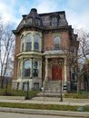 Detroit: Old Brick Victorian Home Royalty Free Stock Photo