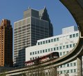 Detroit People Mover Royalty Free Stock Photo