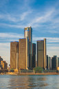 Detroit skyline day time of photo Royalty Free Stock Images