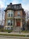 Detroit stary ceglany wiktoriański dom Zdjęcie Royalty Free