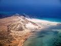 Detwah lagoon near qalansiyah socotra island Royalty Free Stock Photo