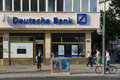 Deutsche bank ag berlin july is a german global banking and financial services company it employs more than people in over Stock Photo