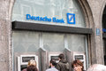 Deutsche bank atms people using automated teller machines Stock Photos
