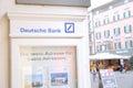 Deutsche Bank showcase Royalty Free Stock Photo