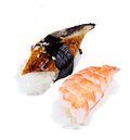Deux sushi de nigiri Photos stock