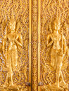 Deva thai style thasung temple uthaithani province thailand Royalty Free Stock Photo
