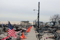 Devastated area in breezy point ny three months after hurricane sandy new york february on february more than houses Royalty Free Stock Images